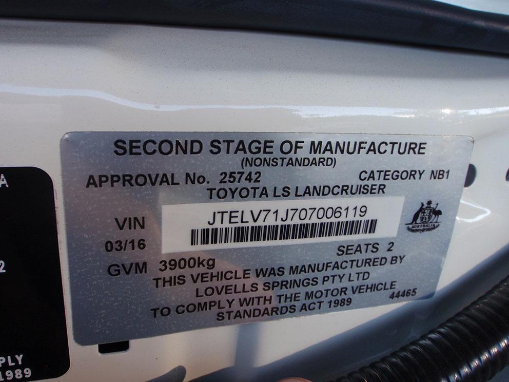 79 Toyota Landcruiser Fitout - Lovells GVM Upgrade