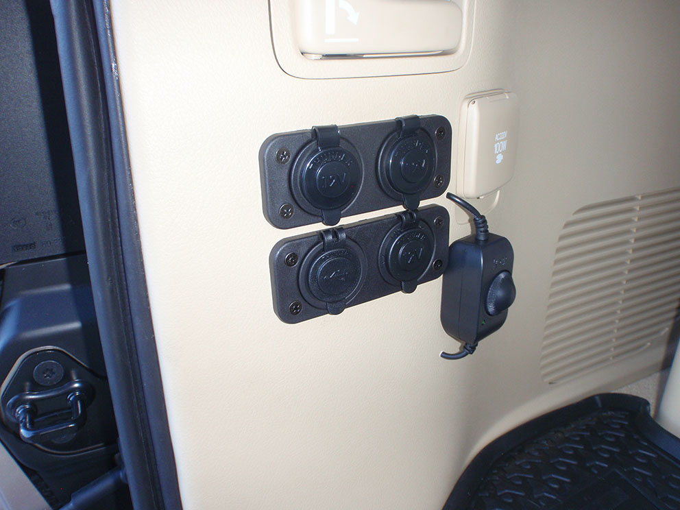 Toyota Landcruiser 2017 - Power outlet additions after