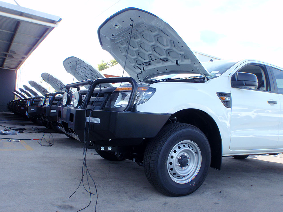Ford Ranger PX Mass Production Fitout - Bullbars & Electrical