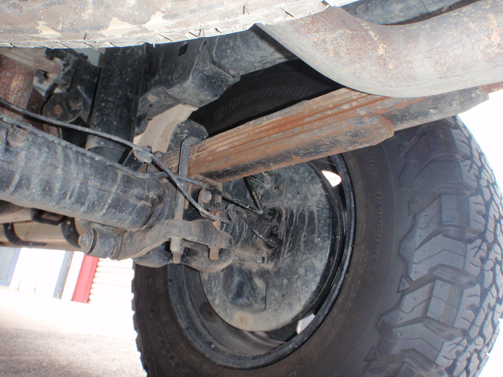 Toyota Hilux Suspension Upgrade - Bump stops before