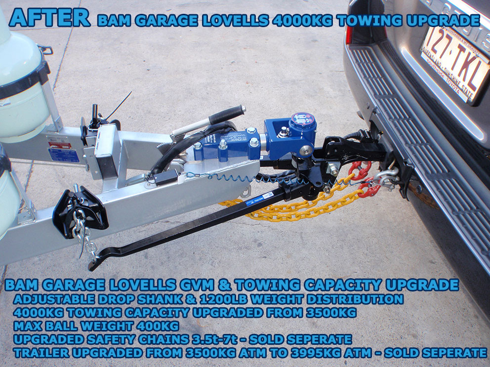 AFTER - 200 series Toyota Landcruiser 4000kg braked towing capacity upgrade - Stage 2