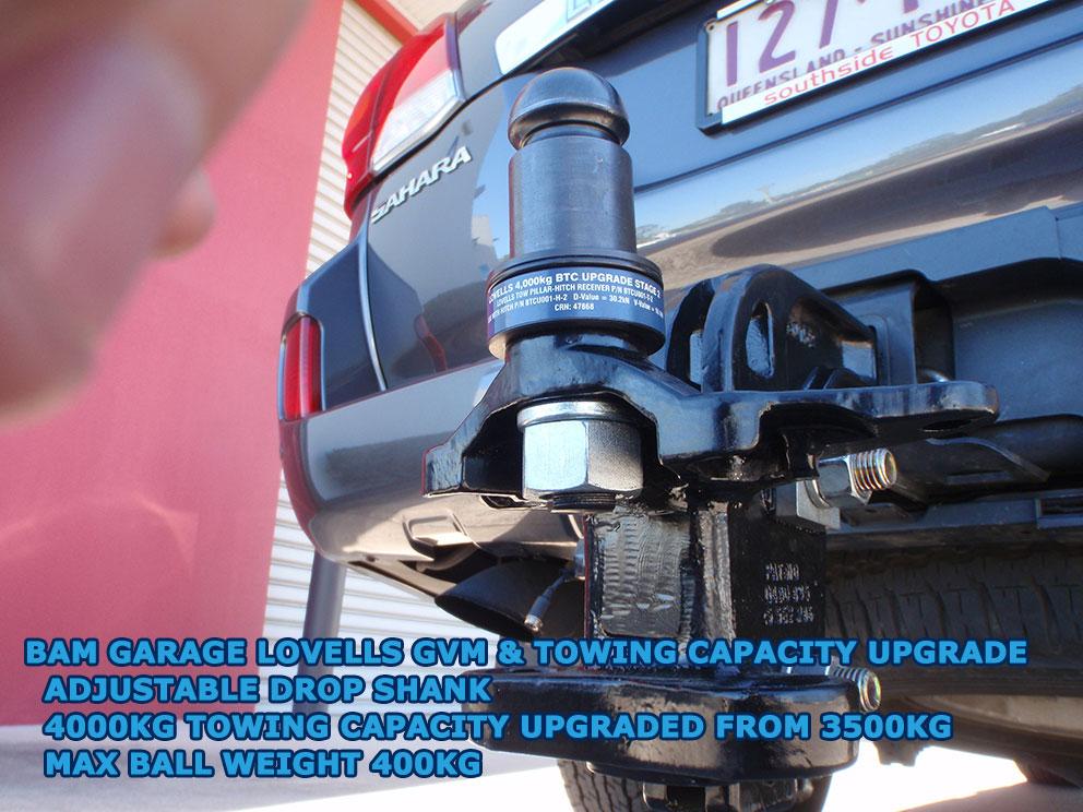 200 series Toyota Landcruiser 4000kg braked towing capacity upgrade - Stage 2