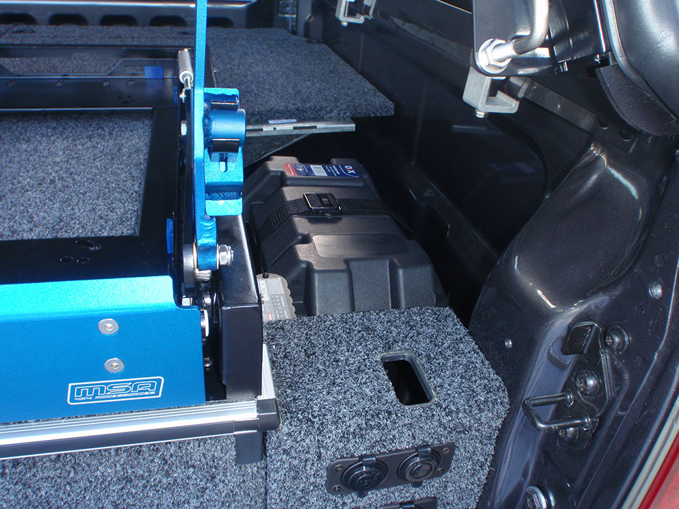 Ford Ranger - Dual Battery System Concealed Below Drawer System