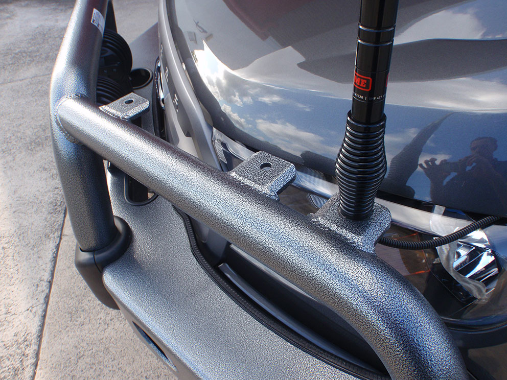 Ford Ranger ECB Bullbar with additional antenna lugs optioned