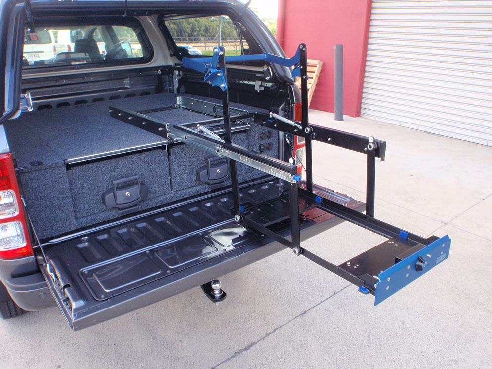 Ford Ranger - MSA 4x4 fridge drop slide DS40
