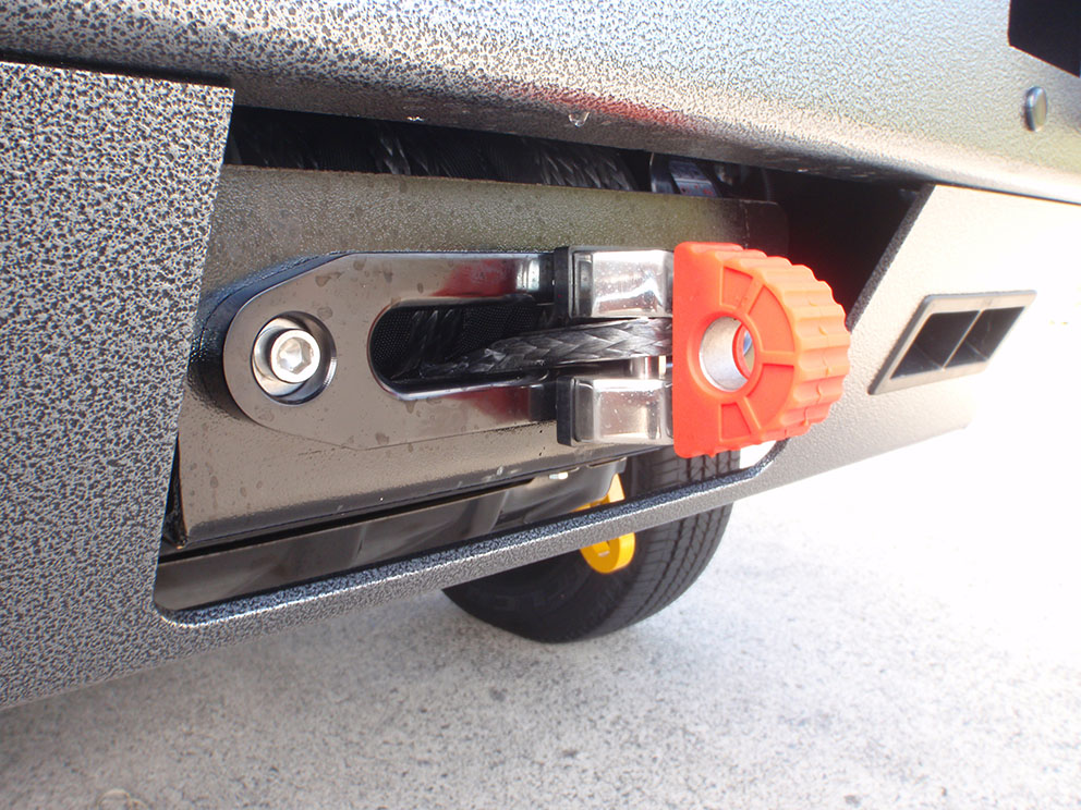 Ford Ranger Runva winch fitted to ECB bullbar