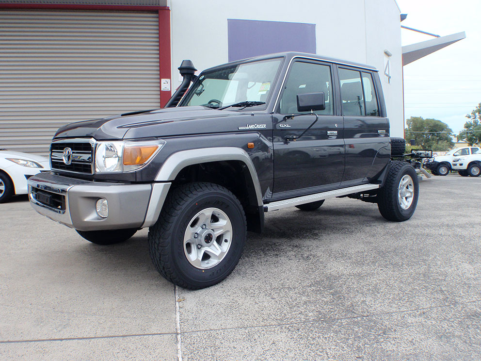 Landcruiser 79 before canopy fitout
