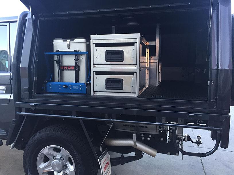 Landcruiser 79 canopy drawer setup