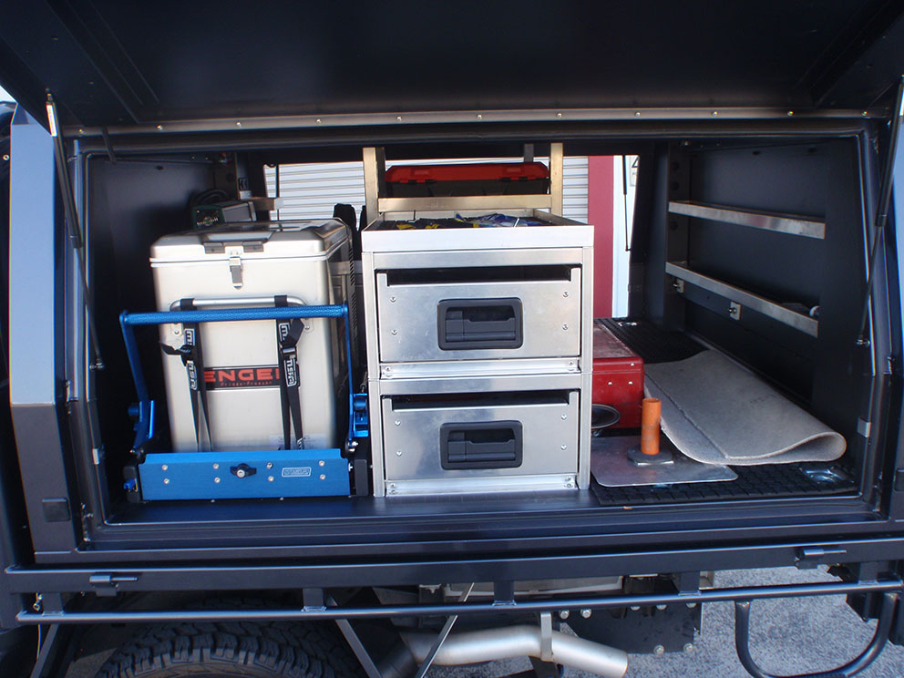 Landcruiser 79 canopy drawer setup